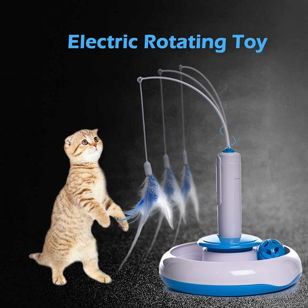 Automatic Rotating Play Interactive IQ Training Kitty Toys