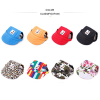 Small Pet Dog Summer Canvas Cap