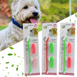 Double Head Soft Pet Finger Teeth Care Cleaning Brush