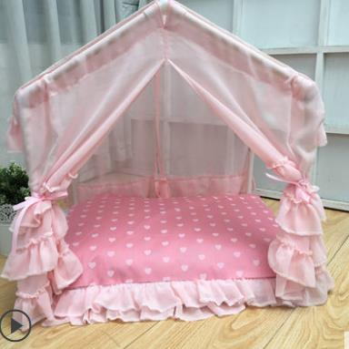 Summer Cool Cabin Pink Princess Pet Dog House