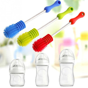 Creative Bottle Brush Unique design For Baby Bottles Scrubbing Silicone Cleaning Tool Kitchen Cleaner For Washing Cleaning Brand