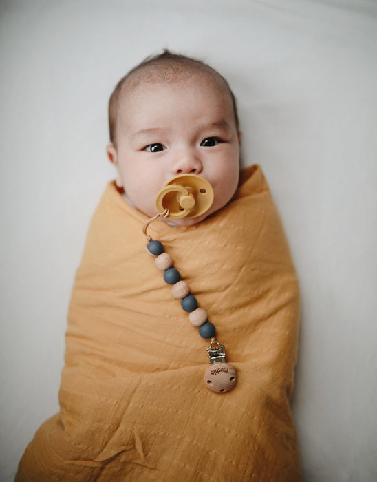 (Coming Soon) Muslin Swaddle Blanket Organic Cotton - Fall Yellow