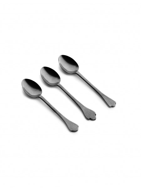 MERCI - Coffee Spoon Anthracith Stone Wash (Set of 3) (Coming Soon) - Earth Mart