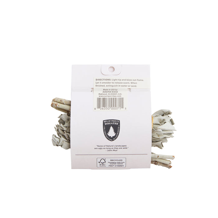 Campfire Incense - White Sage Mini Bundles - Earth Mart