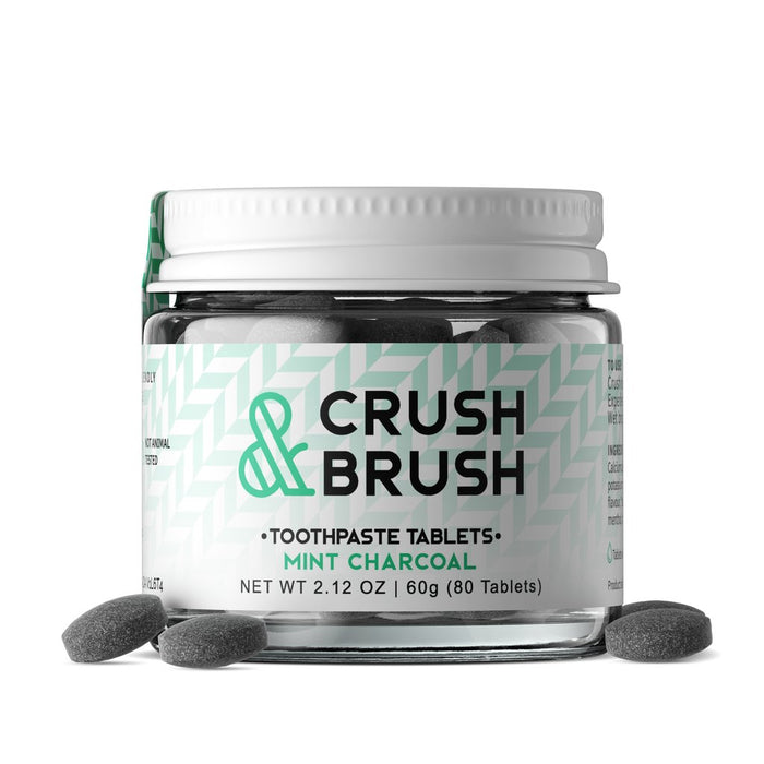 Crush & Brush ~80 tablets (40days) - Mint Charcoal