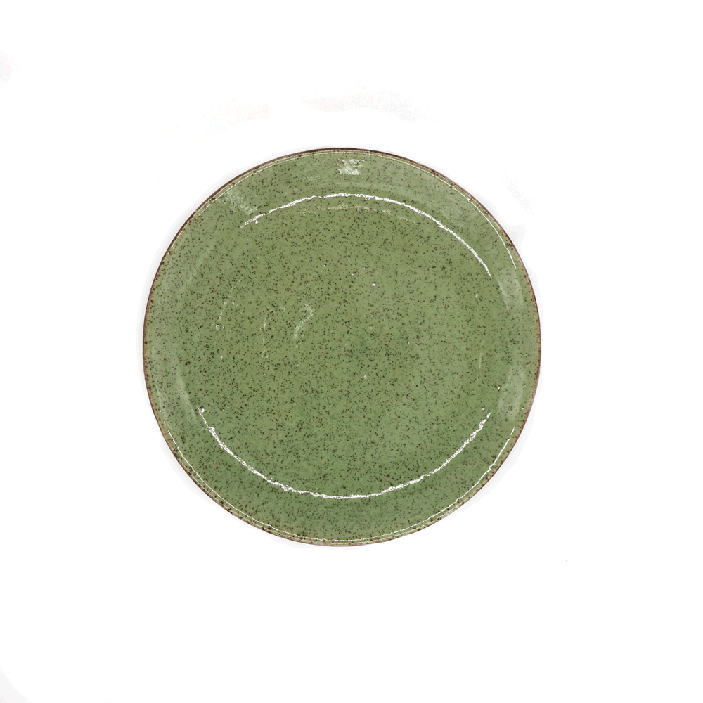 Local Artisanal Ceramic - Green Plate 10""