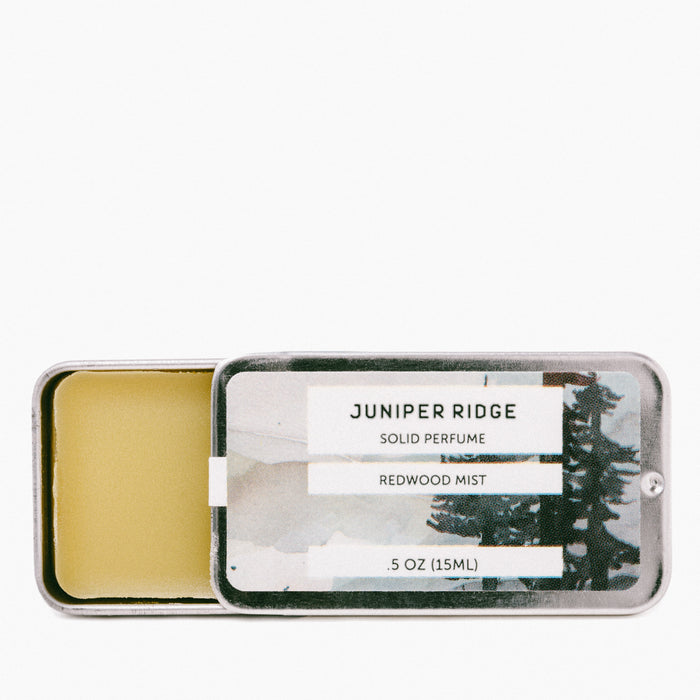 Juniper Ridge - REDWOOD MIST Solid Perfume - Earth Mart