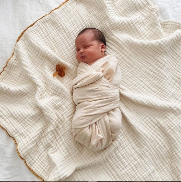 (Coming Soon) Muslin Swaddle Blanket Organic Cotton - Flowers
