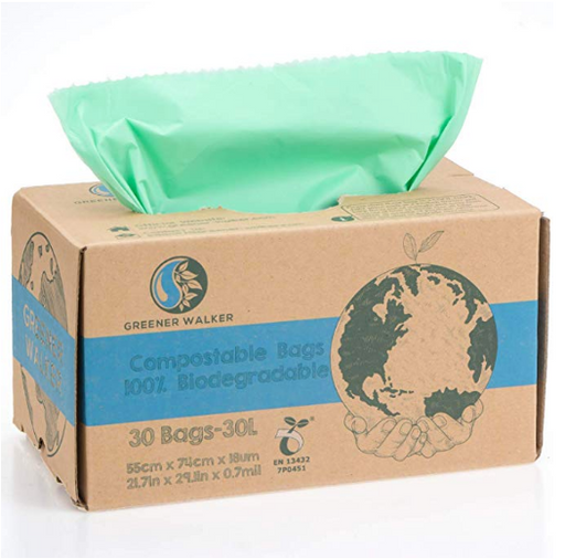 100% Compostable Trash Bags - 30L x 30 Bags - Earth Mart