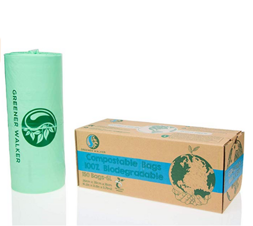 100% Compostable Trash Bags - 10L x 150 Bags - Earth Mart