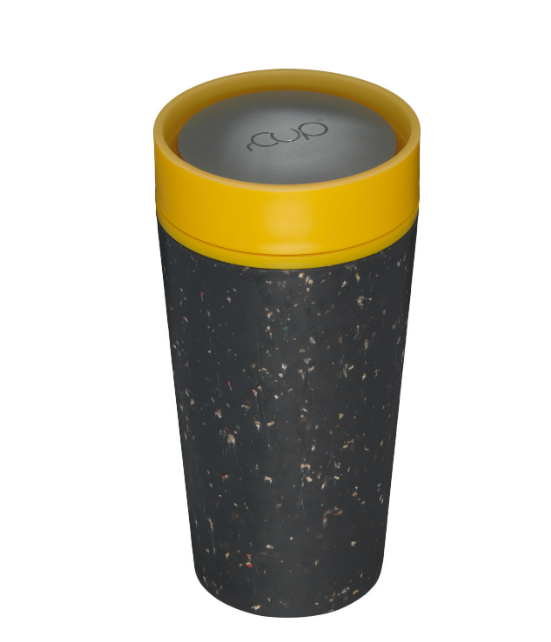 rCUP Black and Mustard 12oz - Earth Mart
