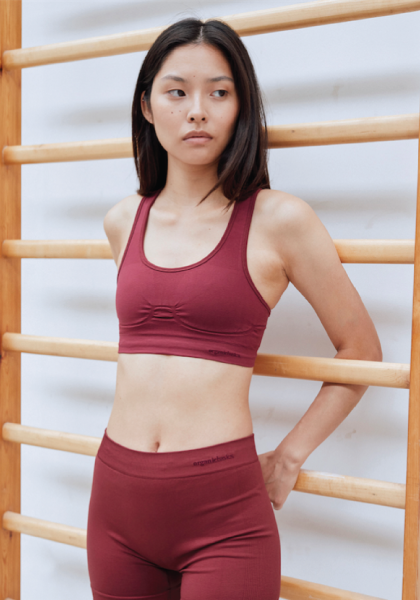 SilverTech™ Active Workout Bra - Burgundy