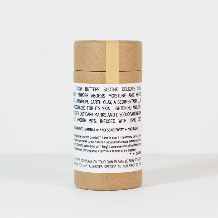 Arrowroot & Earth Clay Deodorant - Patchouli / Blood Orange - Earth Mart