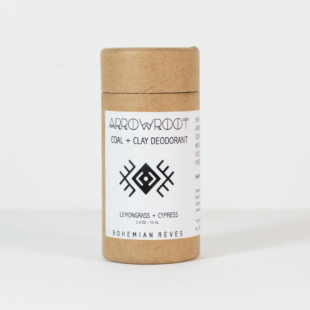 Arrowroot & Earth Clay Deodorant - Lemongrass / Cypress - Earth Mart