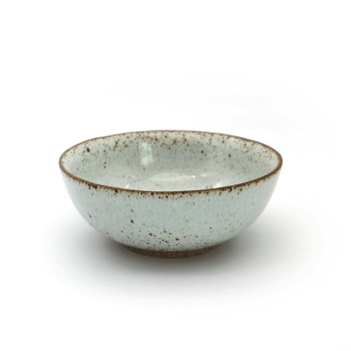 "Local Artisanal Ceramic - White Bowl 7"" - Earth Mart"