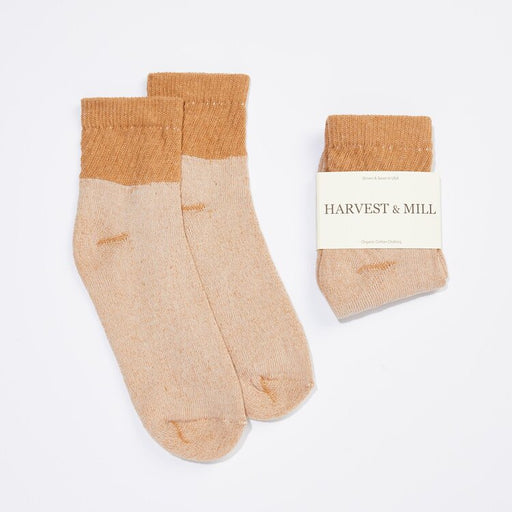 Organic Cotton Socks - Brown Ankle