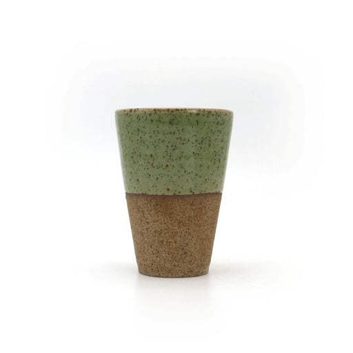 Local Artisanal Ceramic - Tall Cup (Green) - Earth Mart