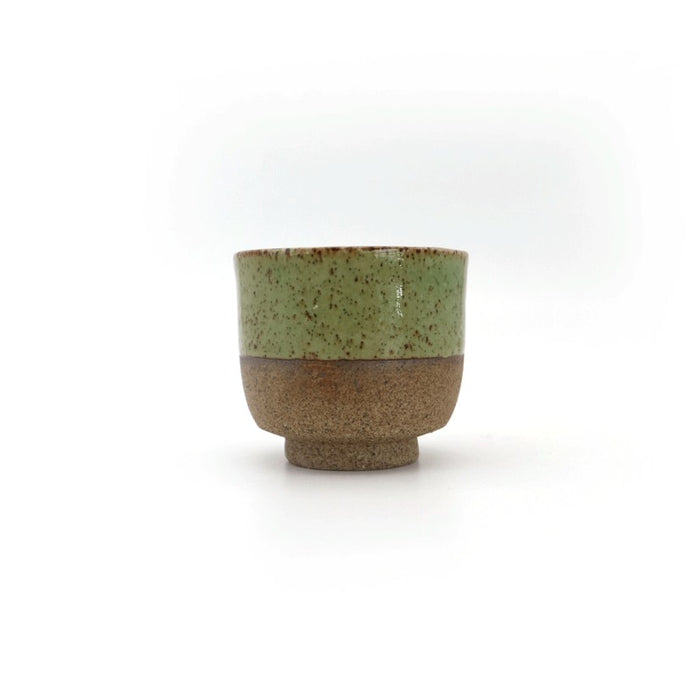 Local Artisanal Ceramic - Tea Cup (Green) - Earth Mart