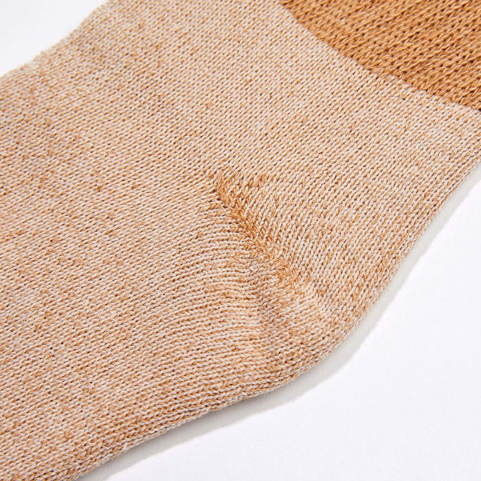 Organic Cotton Socks - Brown Crew