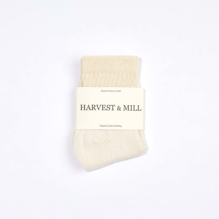 Organic Cotton Socks - Natural White Ankle