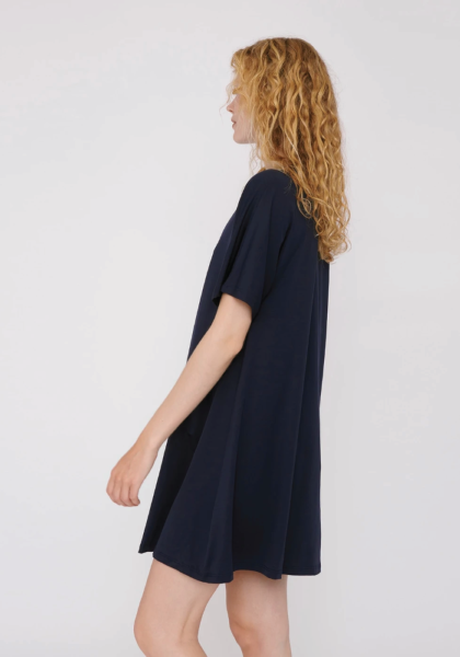 TENCEL™ Lite T-Shirt Dress - Navy
