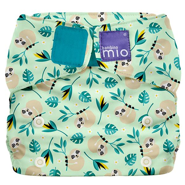 Miosolo All-in-one Reusable Nappy - Swinging Sloth - Earth Mart