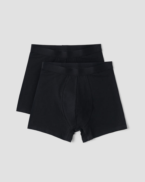 Organic Cotton Boxers 2-pack - Black - Earth Mart