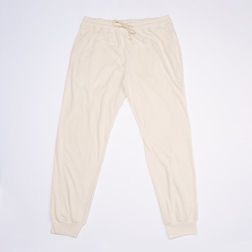 Organic Jogger Pants in Natural White - Unisex