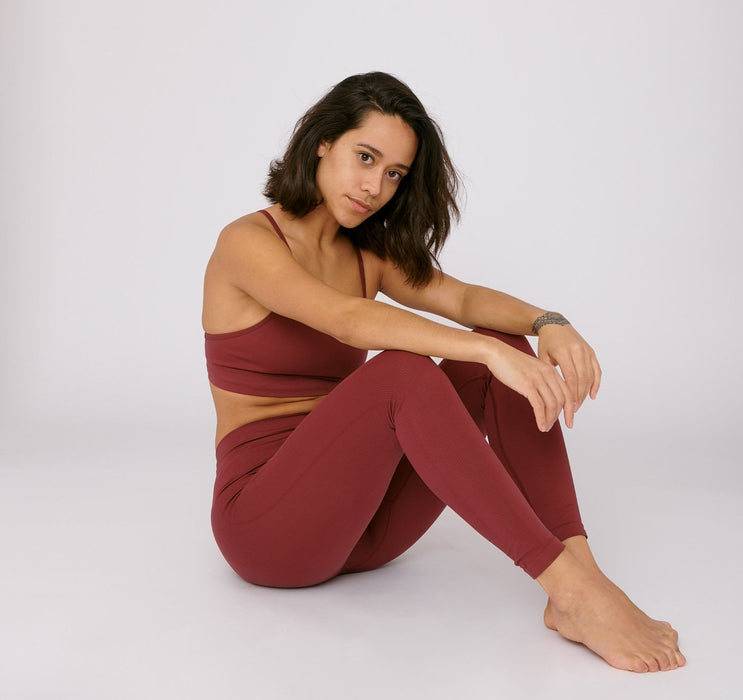SilverTech™ Active Leggings - Burgundy - Earth Mart