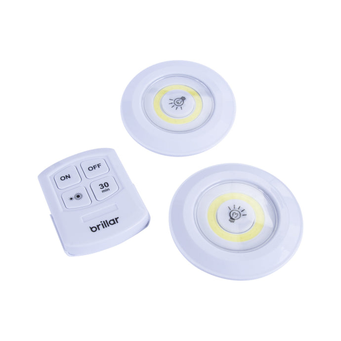 Remote Controlled Multifunction Puck Lights 2pk