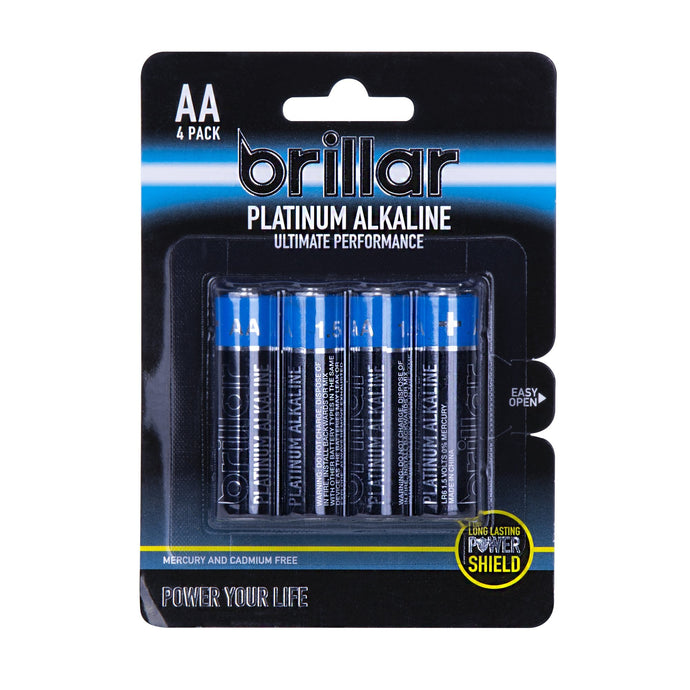 AA Platinum Alkaline Batteries 4pk