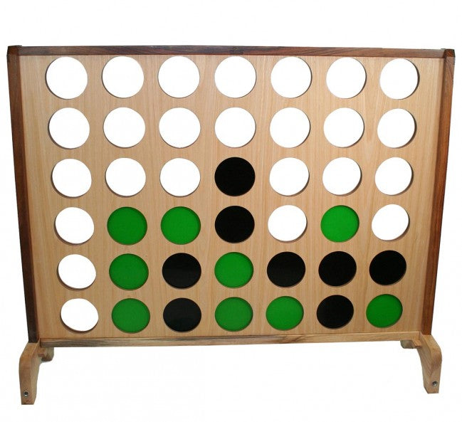 Hardwood Big 4 - Supersized Wooden Giant Connect Four Game
