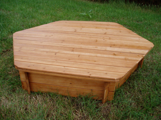 Wooden Lid for Hexagonal Sand Pit