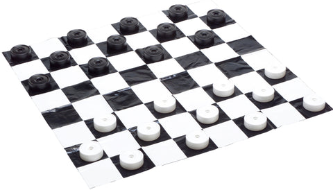Small Plastic Checkers Pieces & Mat
