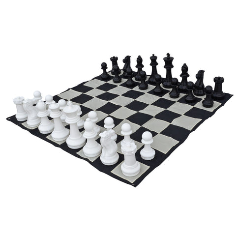 Premium 40cm (16 Inch) Giant Chess Set and Nylon Mat