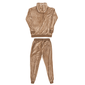 UNREAL PLUSH TRACKSUIT SET SAND - Unrealindustry