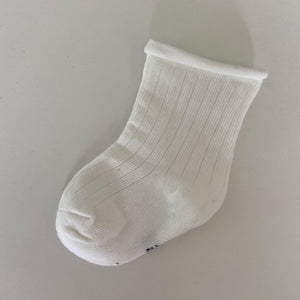 Ribbed Socks - White