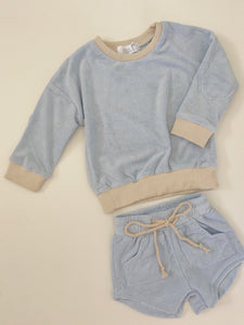 Terry Pullover + Shorts Set