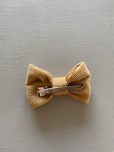 Wildflower Bow Clip in Mustard