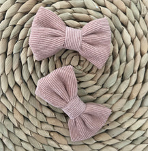 Load image into Gallery viewer, Wildflower Bow Clip in Dusty Pink