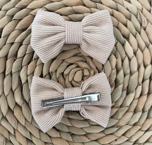 Wildflower Bow Clip in Sandy