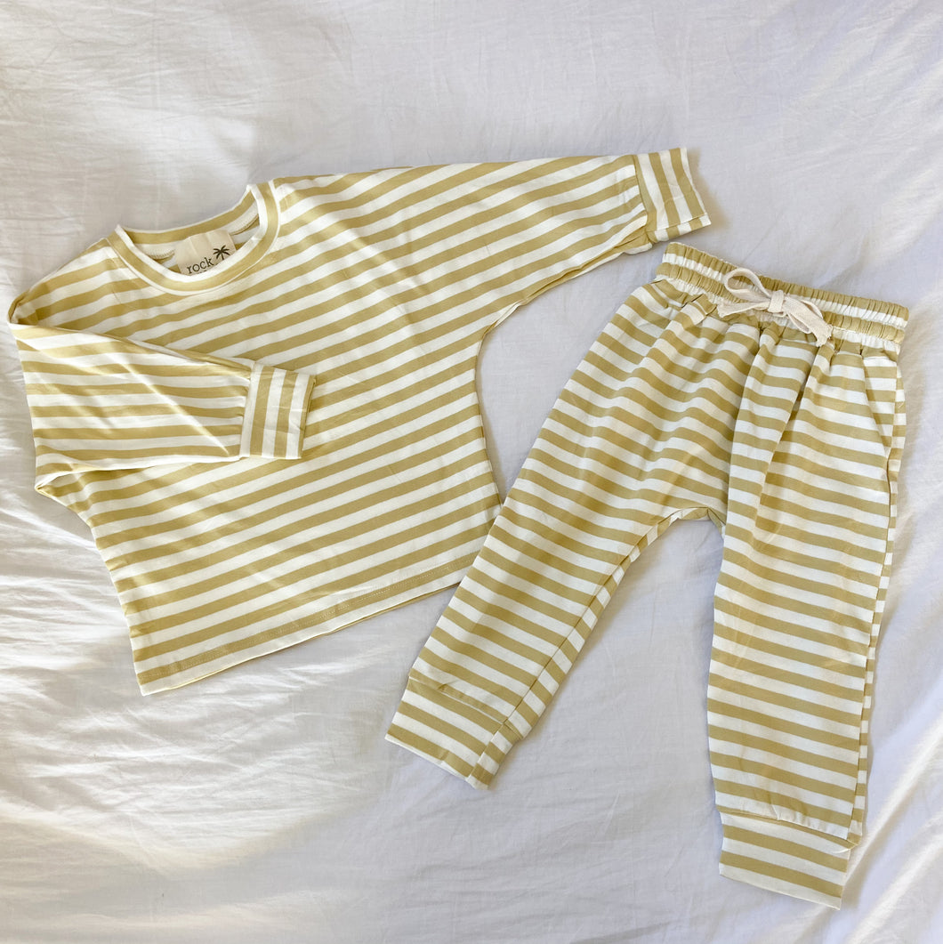 Mustard Stripe Pullover Top