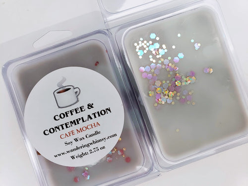 Coffee and Contemplation Wax Melt Clamshell