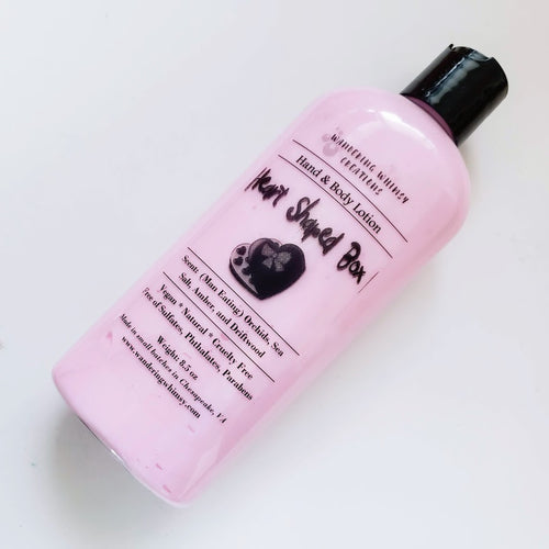 Heart Shaped Box Hemp Lotion