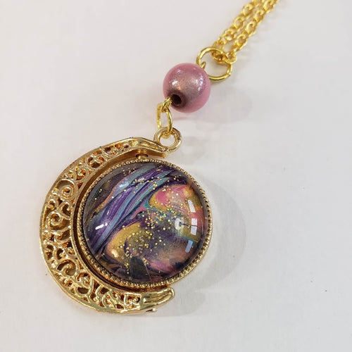Spinning Moon Necklace - Dusk