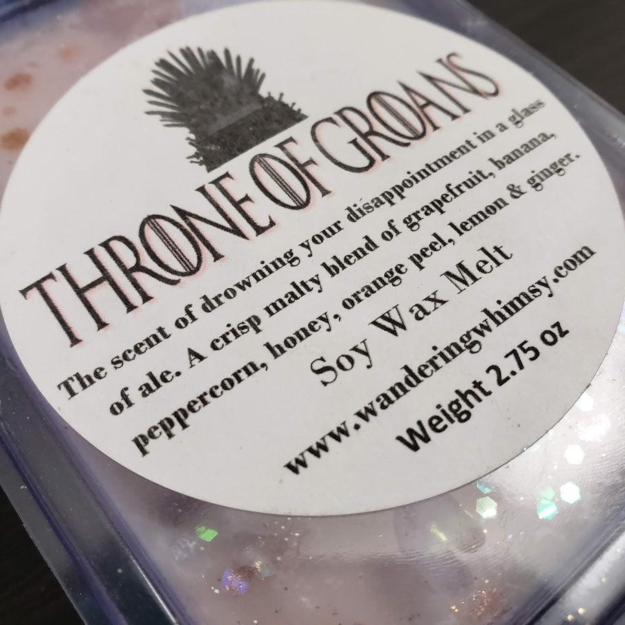 Throne of Groans Wax Melt Clamshell