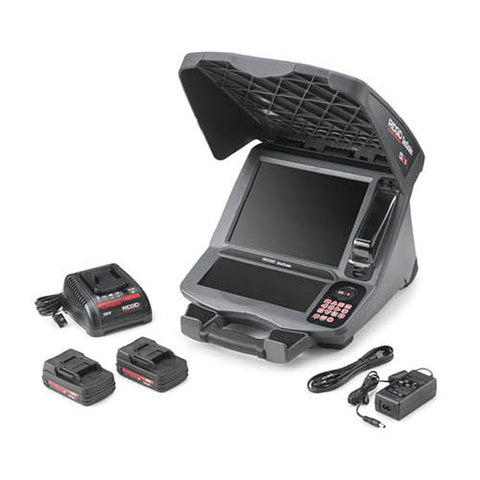 RIDGID 57288 SeeSnake CS12x Digital Recording Monitor with Wi-Fi Connectivity, Rechargeable 18V Batteries, and Battery Charger
