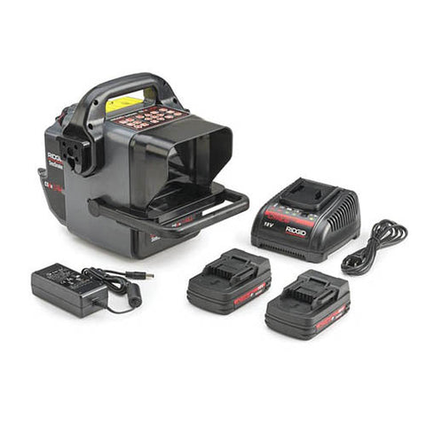 RIDGID 57143 SeeSnake CS6xPak Digital Recording Monitor with Wi-Fi Connectivity, Rechargeable 18V Batteries, and Battery Charger