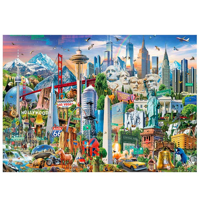 North America Landmarks - Puzzle 1500 pieces
