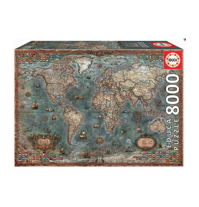 Puzzle 8000 pieces - Historical World Map
